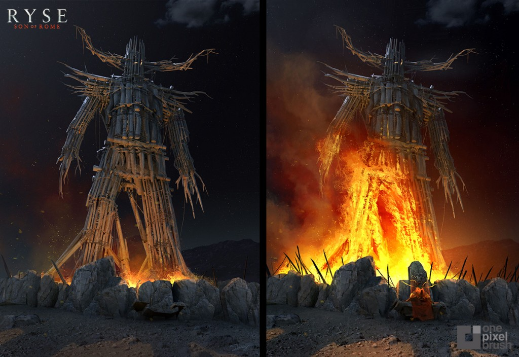 Wickerman Prison. Concept art for Ryse: Son of Rome