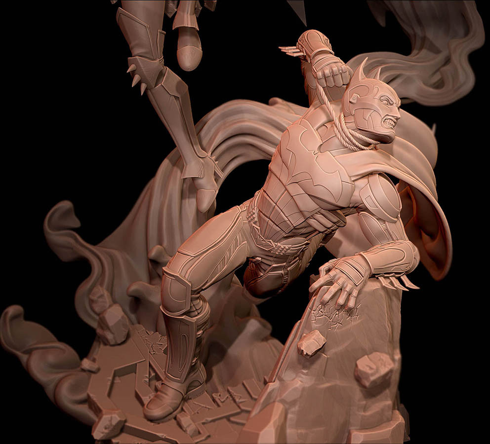 Injustice: Gods Among Us statue. Copyright by DC Entertainment and used by permission.