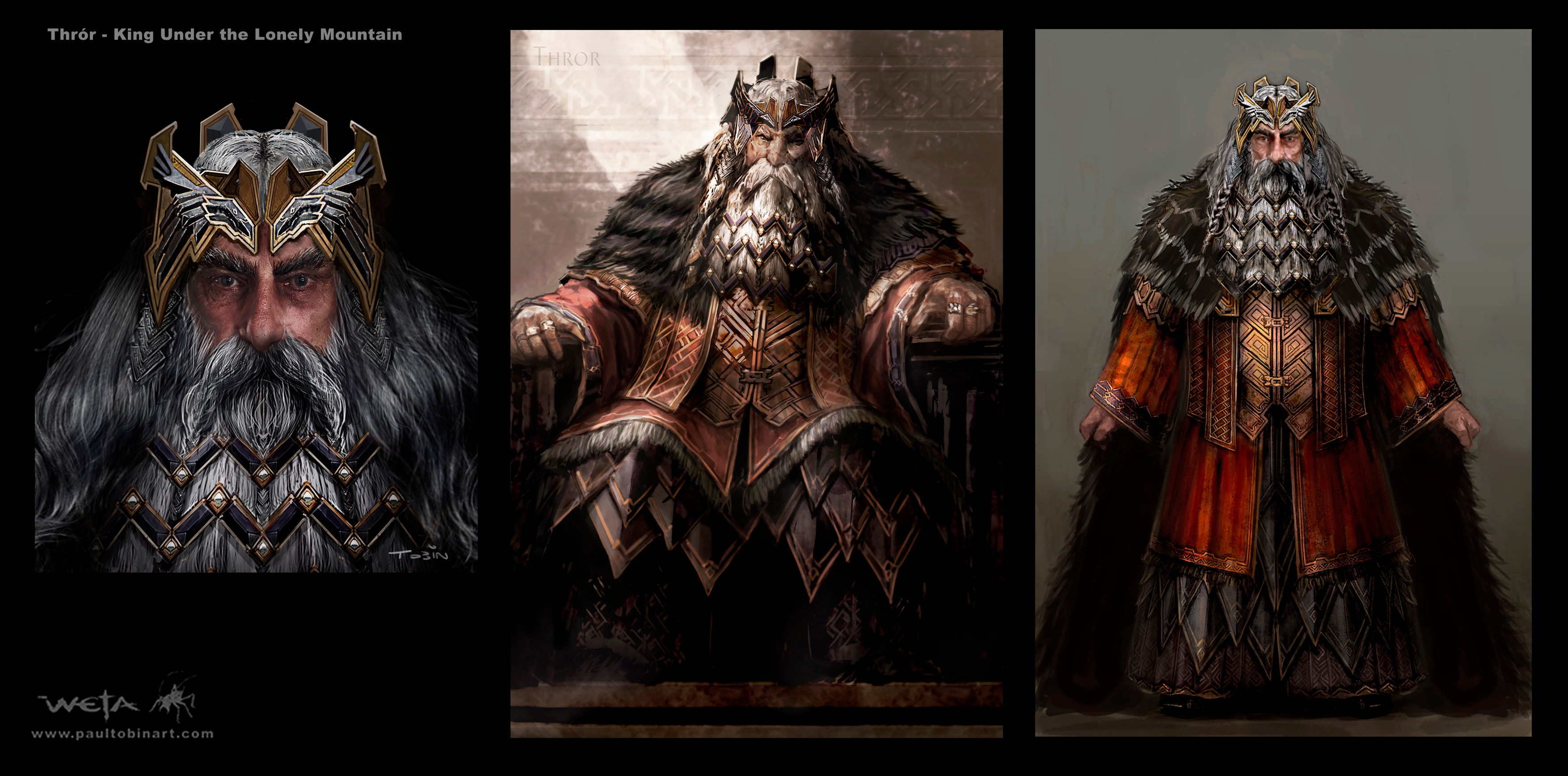 Concept art from The Hobbit created by Paul Tobin. Image courtesy of Weta Workshop.