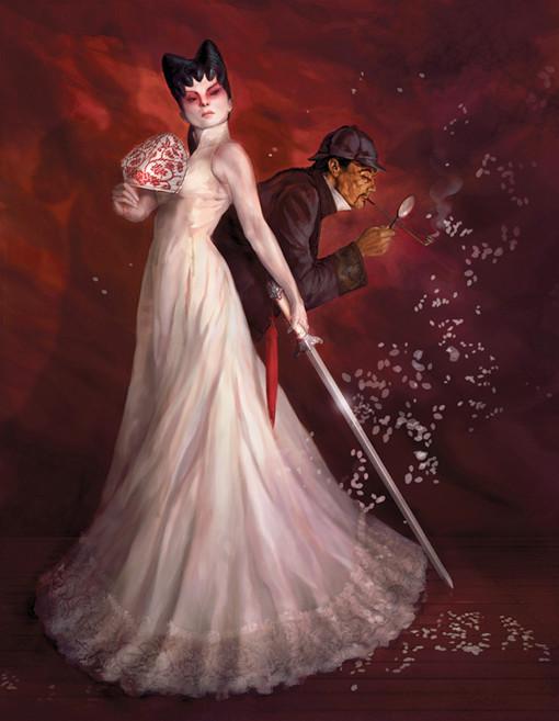 Sherlock Holmes and the White Fox Woman. Image © 2010 Coilhouse Magazine and Paul Tobin.
