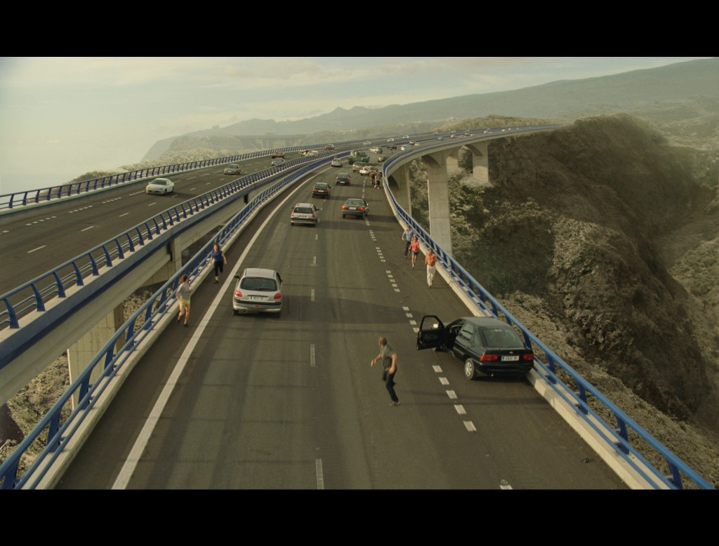 Matte work from Fast & Furious 6. Image © 2013 - Universal Pictures. Before and after 2: the final shot.