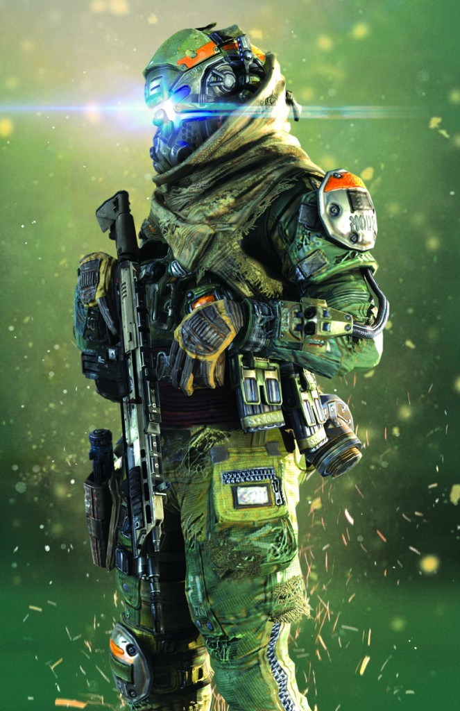 A final render of a production model created for Titanfall.