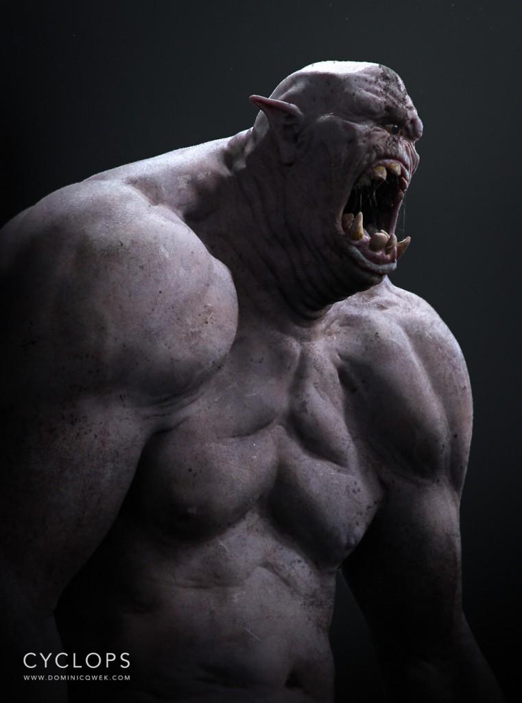 Cyclops: digital creature art.