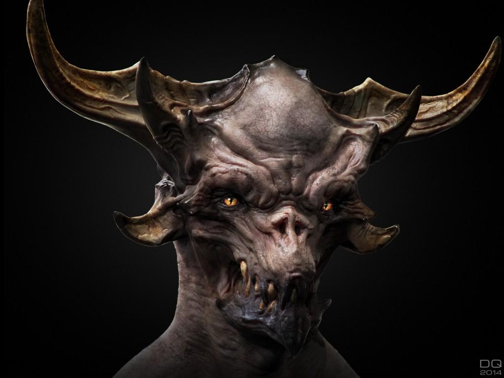 Demonspawn: digital creature art.