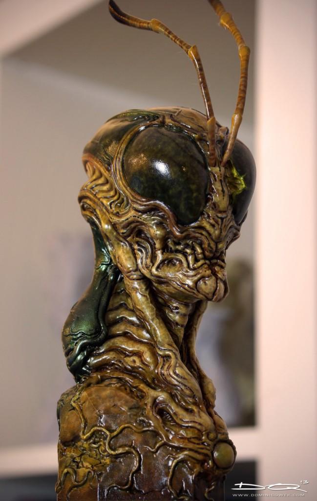 Hopper: a 3D print of Dominic's creature art.