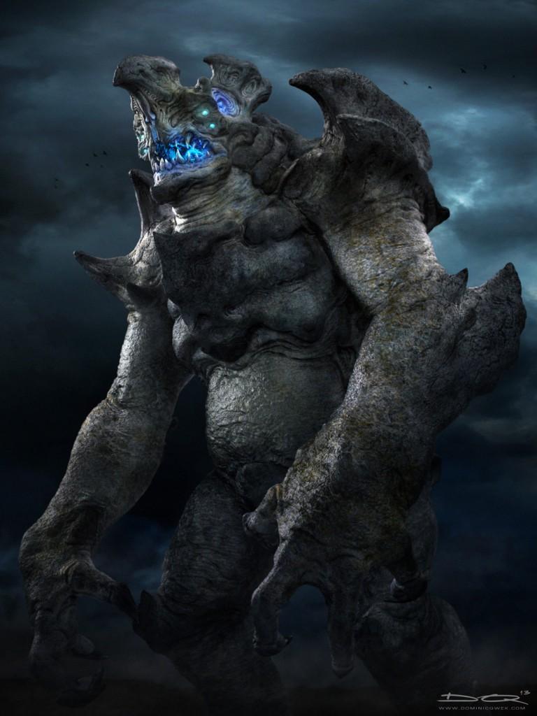 Hachiwara - a Category IV Kaiju: digital creature art.