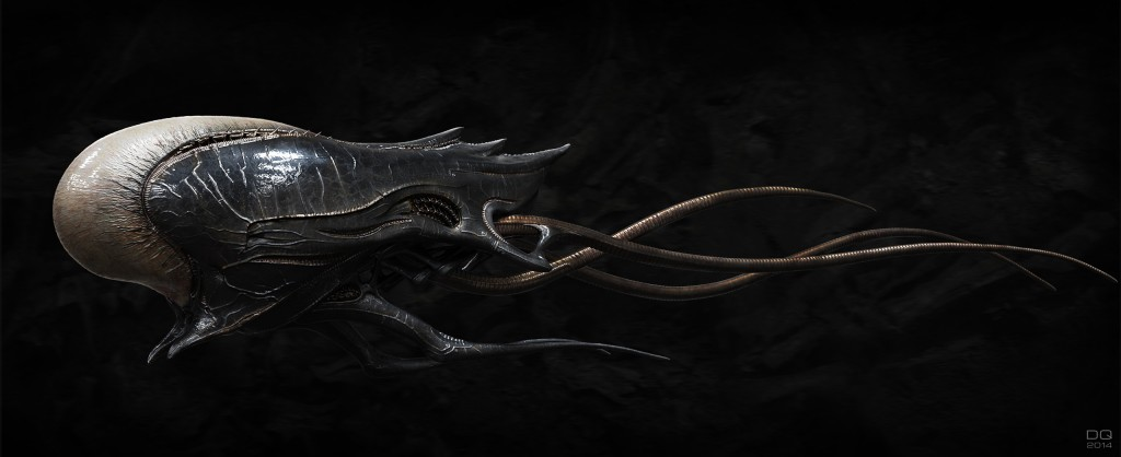 Alien Pod: digital creature art.