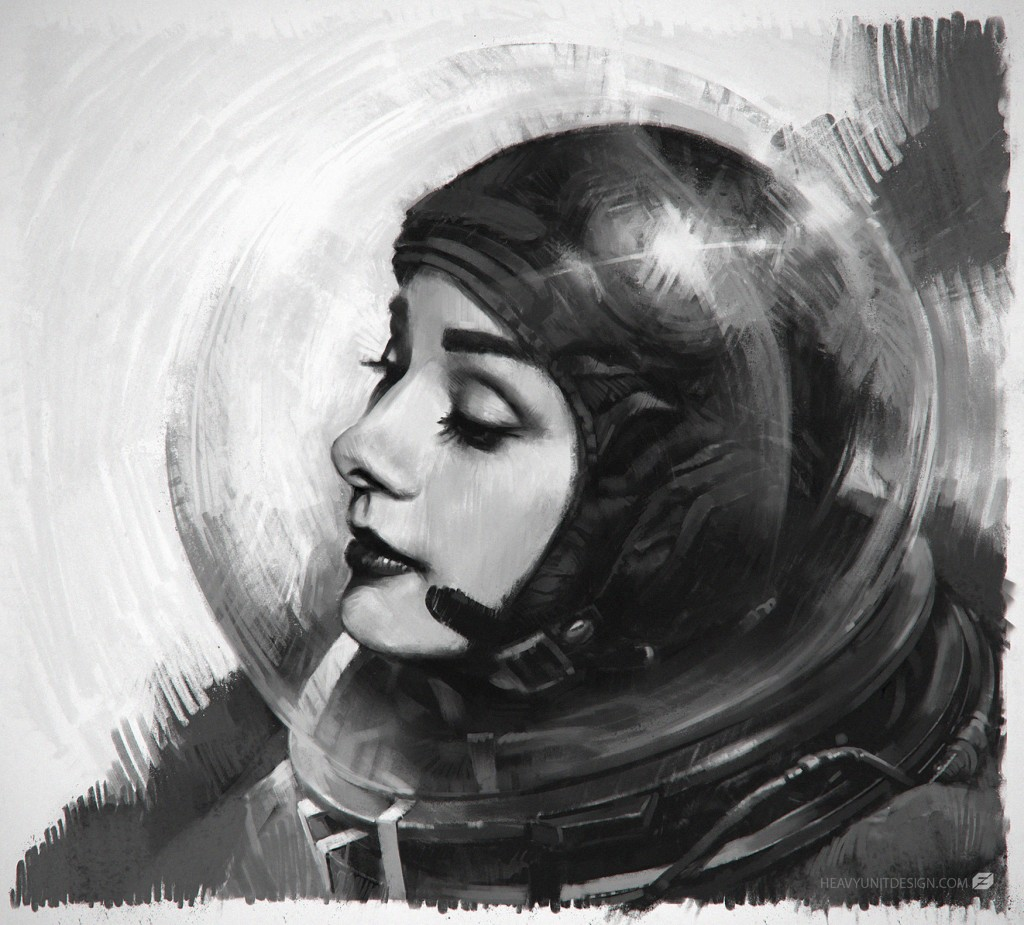 "A personal image: ""a study of Audrey Hepburn that turned into an astronaut""."