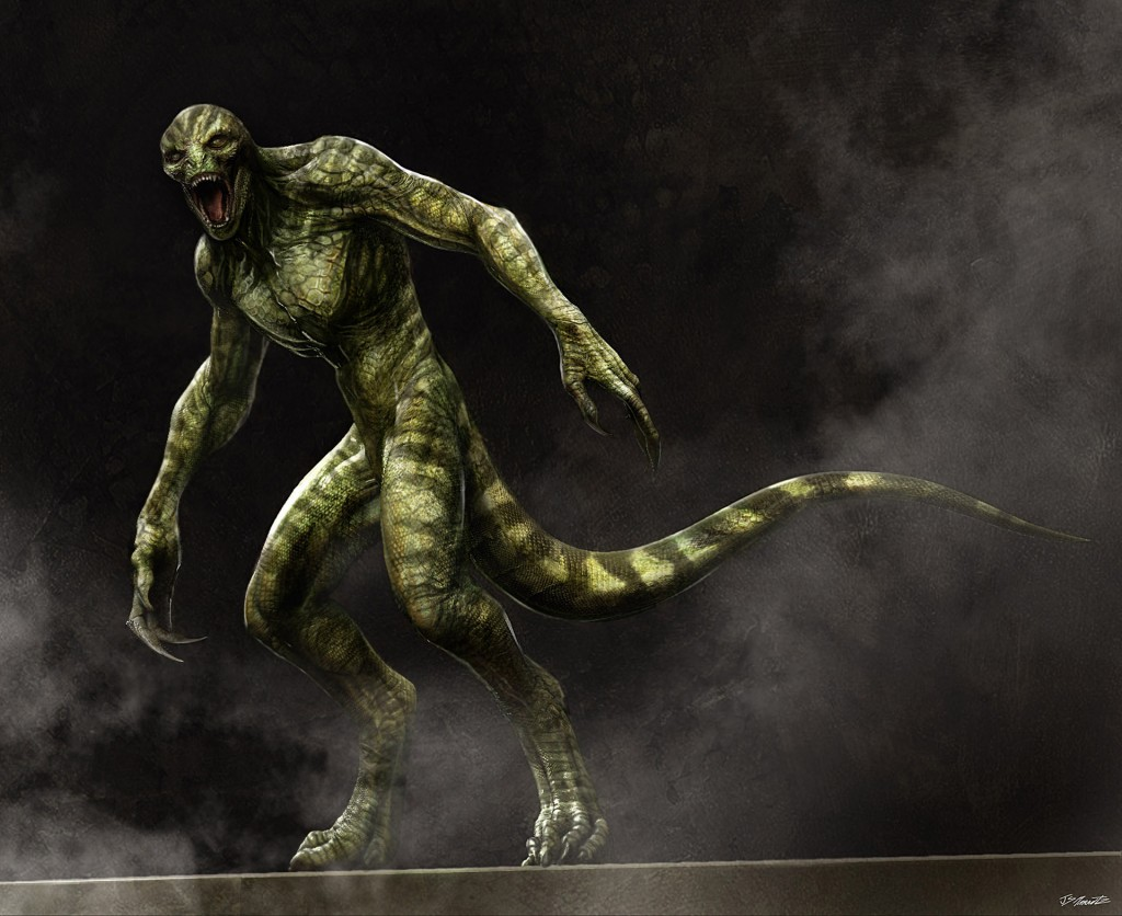 Concept art of The Lizard from The Amazing Spider-Man.