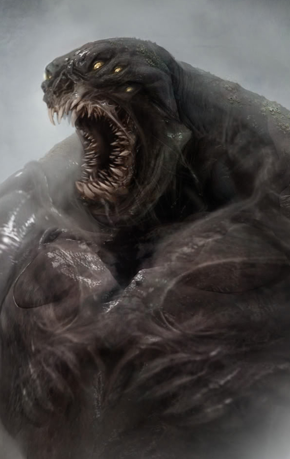 Concept art of the Kraken from Clash of the Titans.