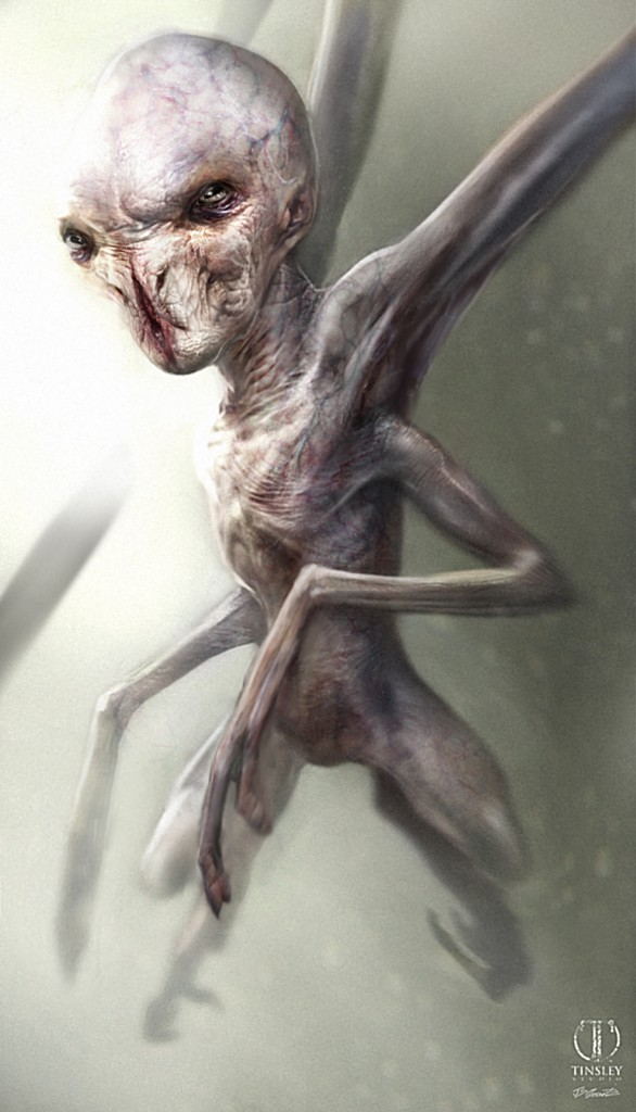 An alien design for American Horror Story: Asylum.