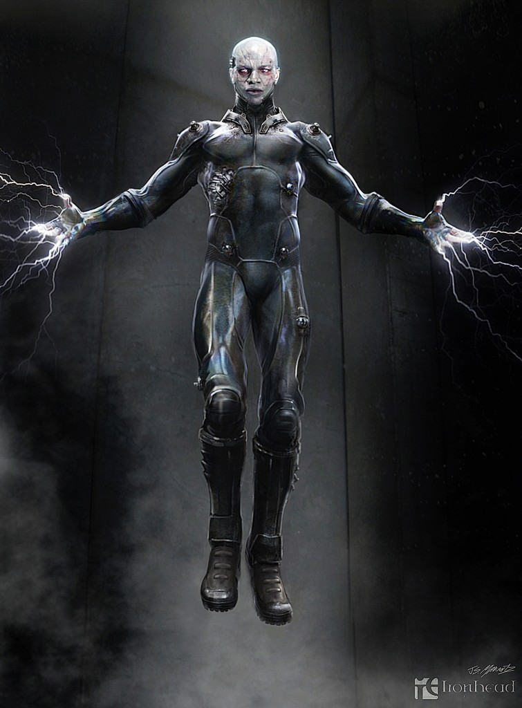 Concept art of Electro from The Amazing Spider-Man 2.