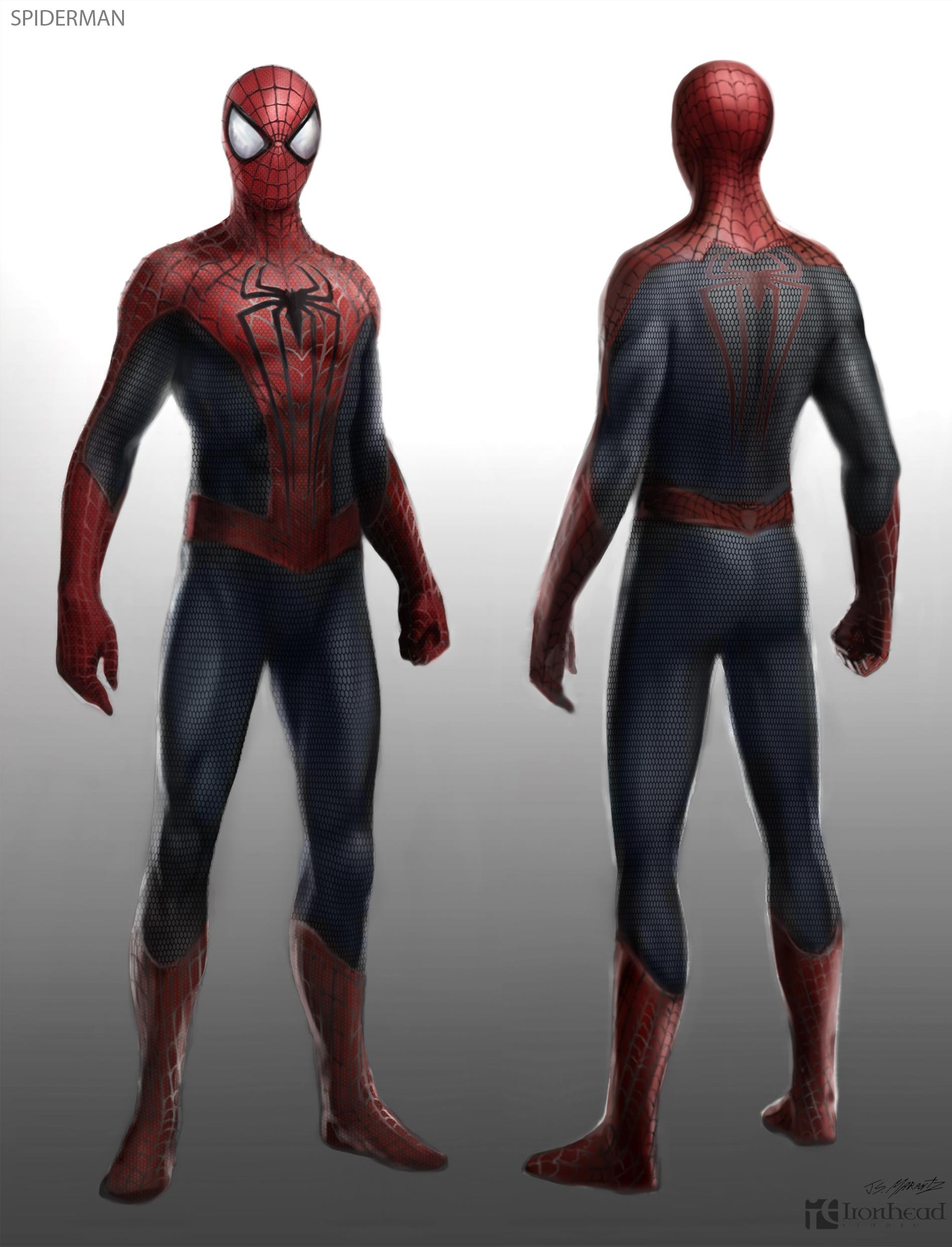 человек-паук во весь рост. рисунок