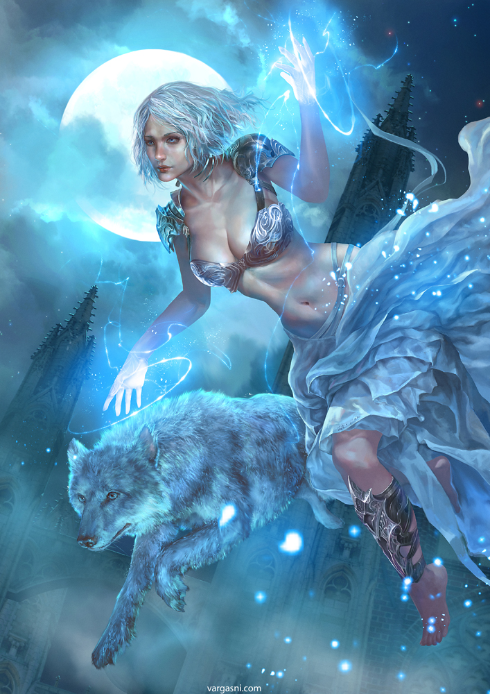 White Sorceress: a personal art piece.