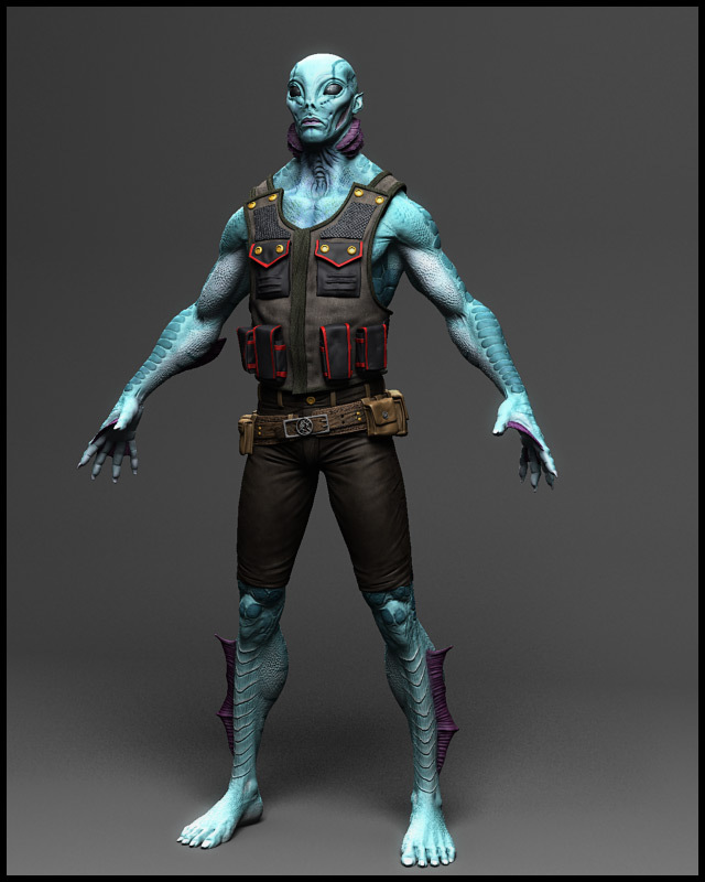 Hellboy's Abe Sapien: a game model created for GameArtisans.org's Comic-Con Challenge.