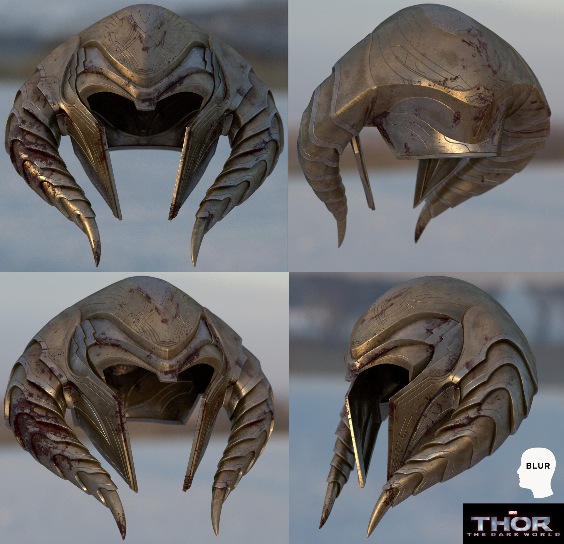 An asset for Blur Studio's prologue for Thor: The Dark World.