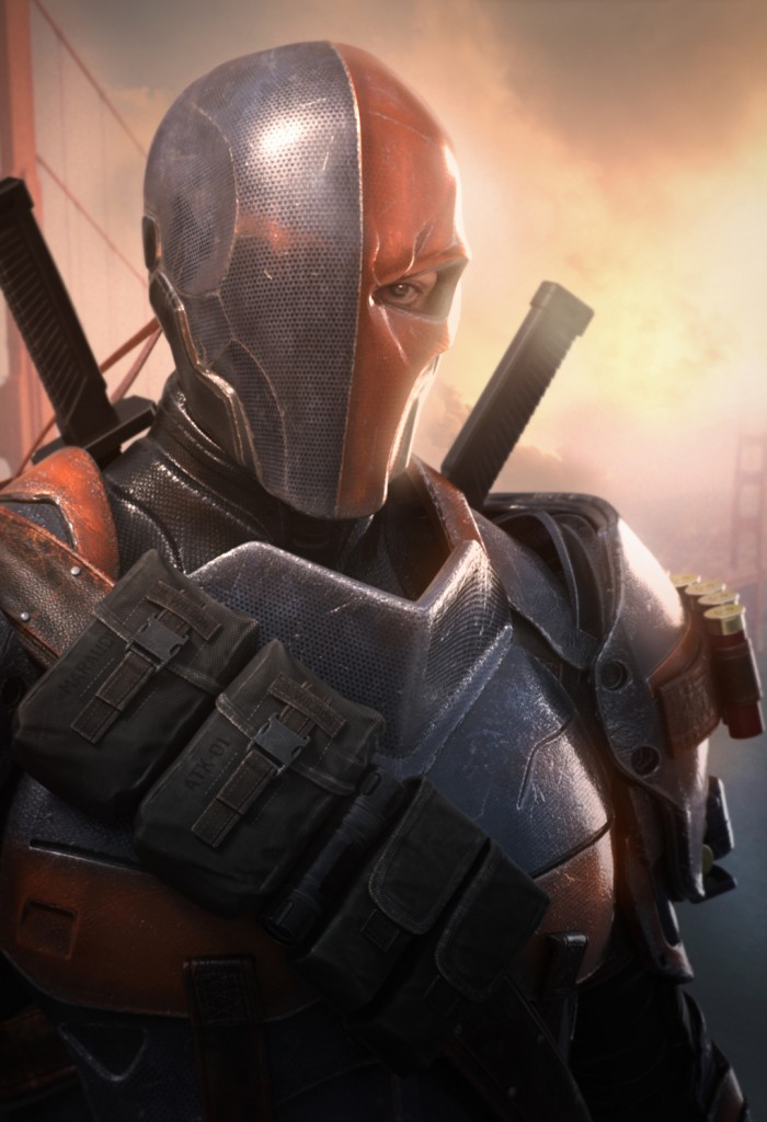 Deathstroke from Blur Studio's cinematic for Batman: Arkham Origins, developed by Warner Bros. Games Montréal.