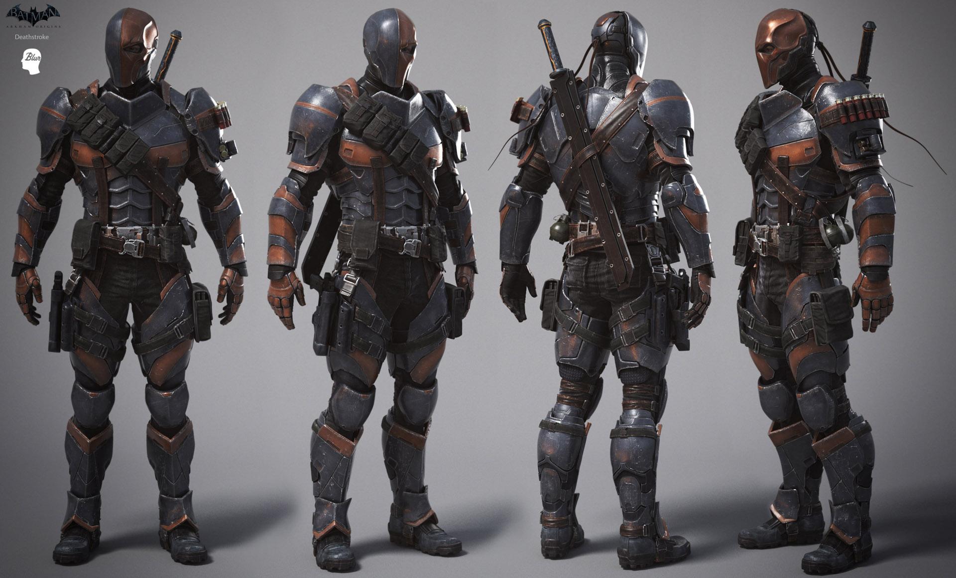 Lead character artist alessandro baldasseroni for Deathstroke armor template