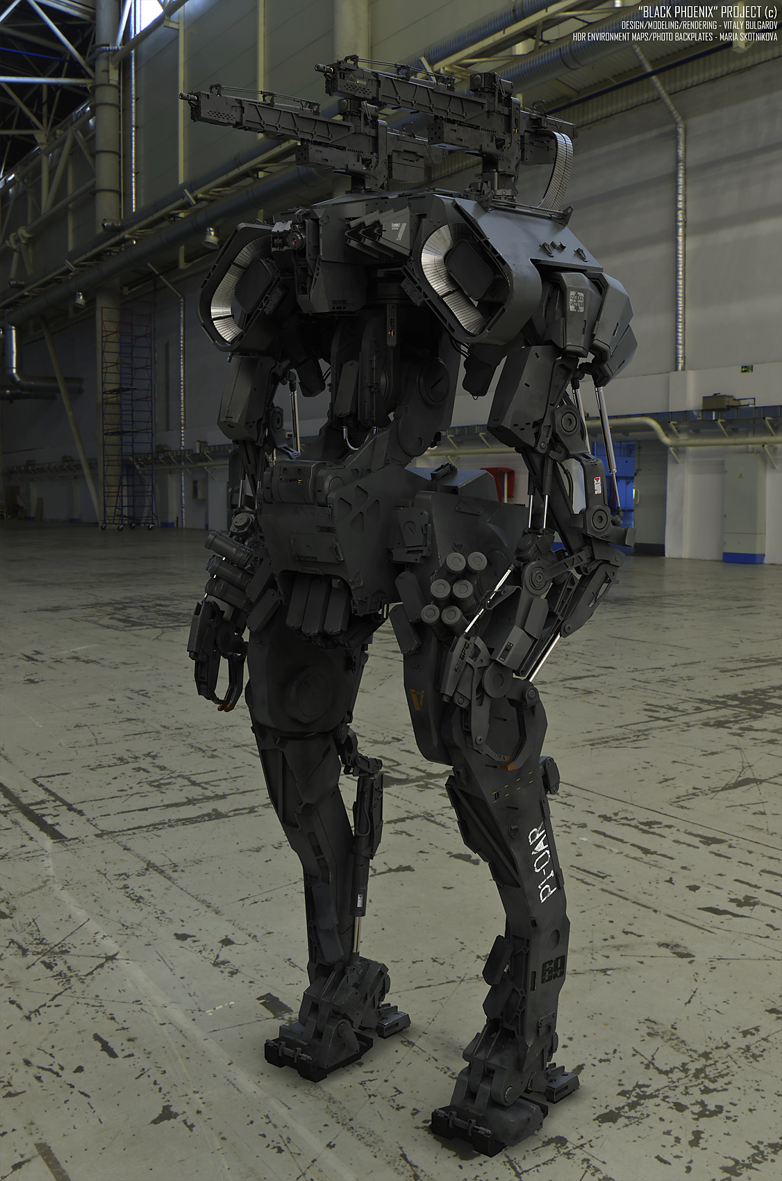 Praetorian P1: one of the designs from Vitaly's Black Phoenix project, in which he created 10 mechs in (almost) 10 days.