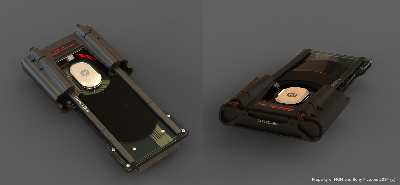 A transmitter design from the recent RoboCop remake. Vitaly also worked on the RoboCop suit and the ED-209 robot.
