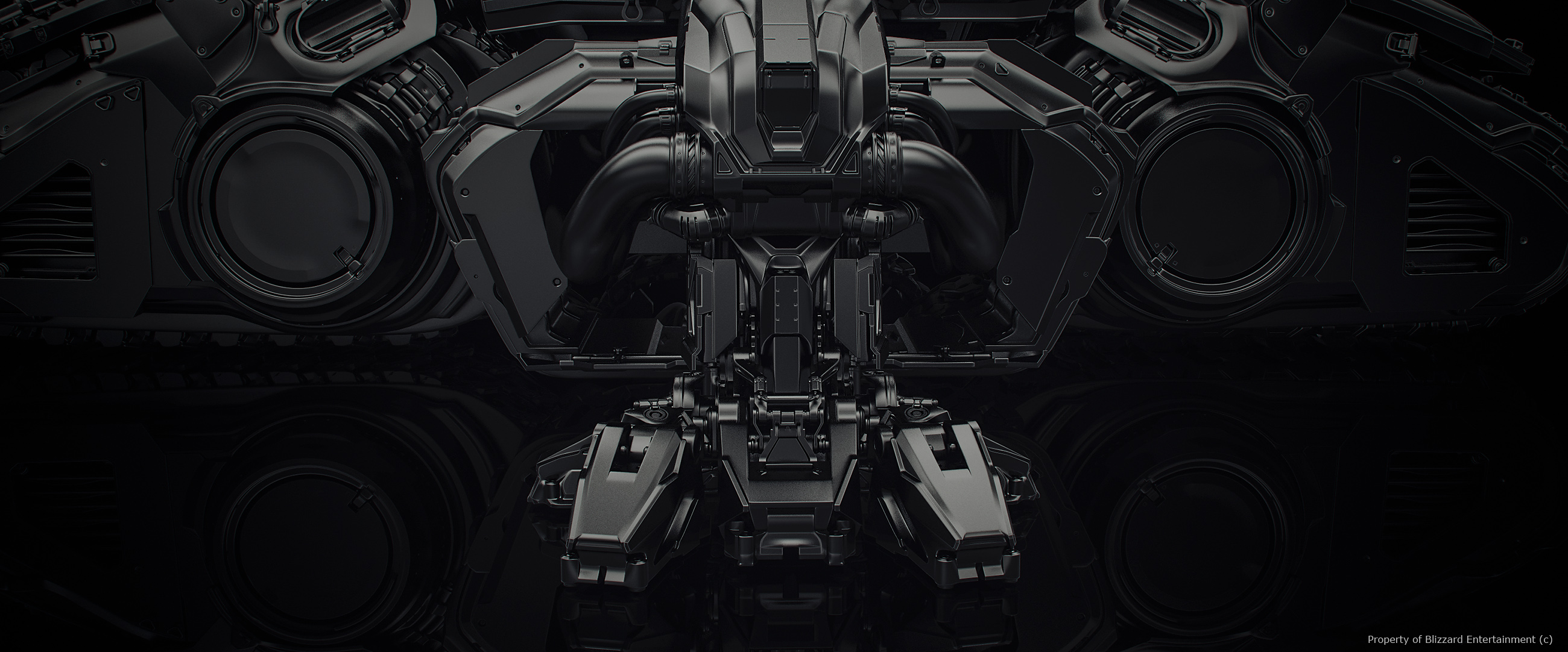 A siege tank from Blizzard Entertainment's cinematic for Starcraft II: Heart of the Swarm.