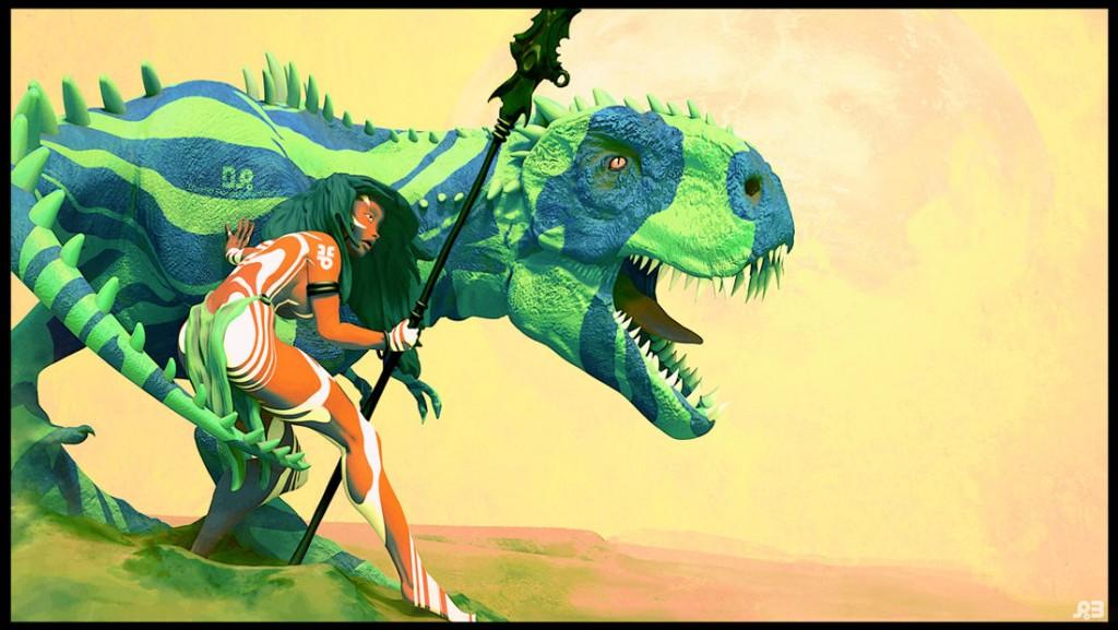 DinoBlues: a personal tribute to Frank Frazetta.