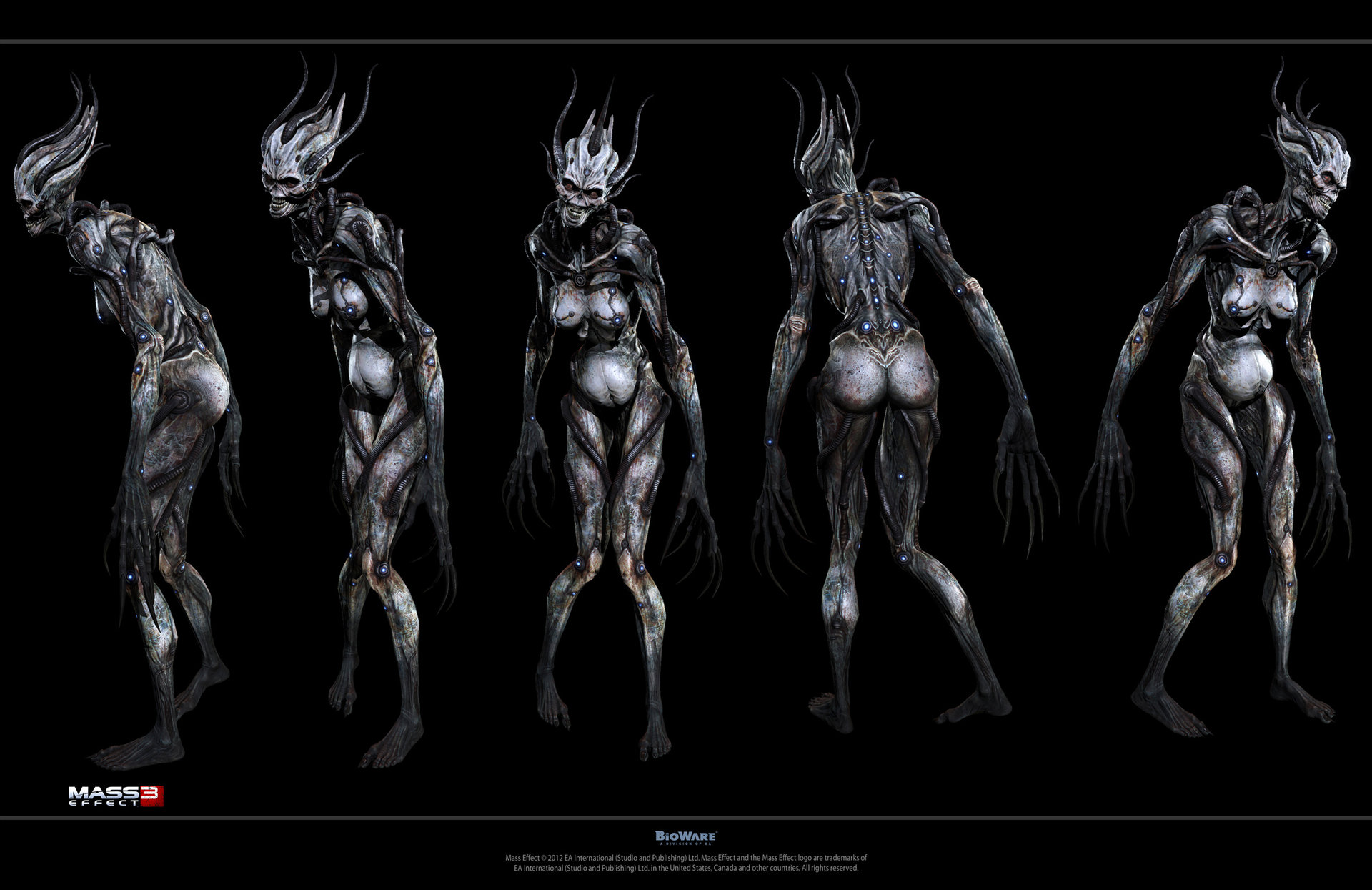 Character art from BioWare's action RPG Mass Effect 3.