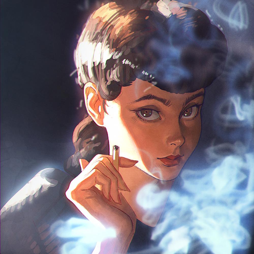 Rachael: a personal artwork. Blade Runner fan art.