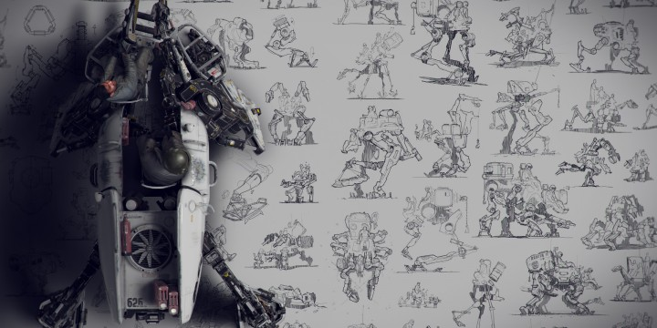 Bullfrog: artwork created for Design Studio Press's recent book Nuthin' But Mech 2.
