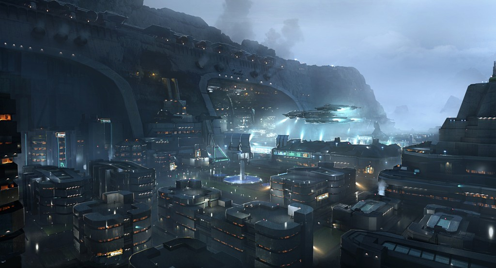 Sherman Base: Art for Cloud Imperium Games' upcoming Star Citizen.