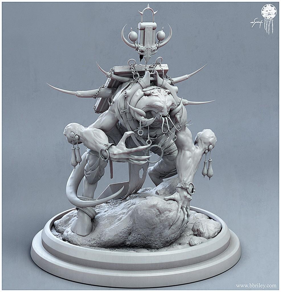 Belial: a personal work created for the Dominance War IV art challenge. An untextured render.