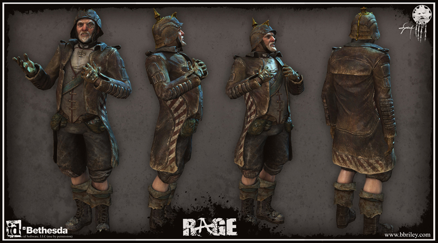 Dietrich: character design from id Software's Rage. Textures by Jason Sallenbach.