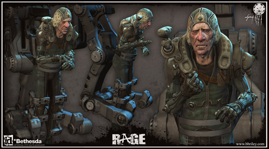 Dr. Antonin Kasavir: character design from id Software's Rage. Textures by Jason Sallenbach.