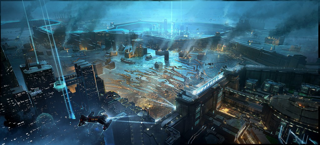 Concept art for Neo Seoul from the movie Cloud Atlas.