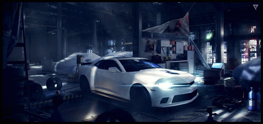 Concept art for Platige's cinematic for Creative Mobile's game Nitro Nation.