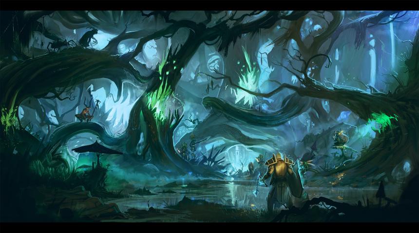 Quest for the Treasure Goblin: a personal art work. Diablo III fan art.
