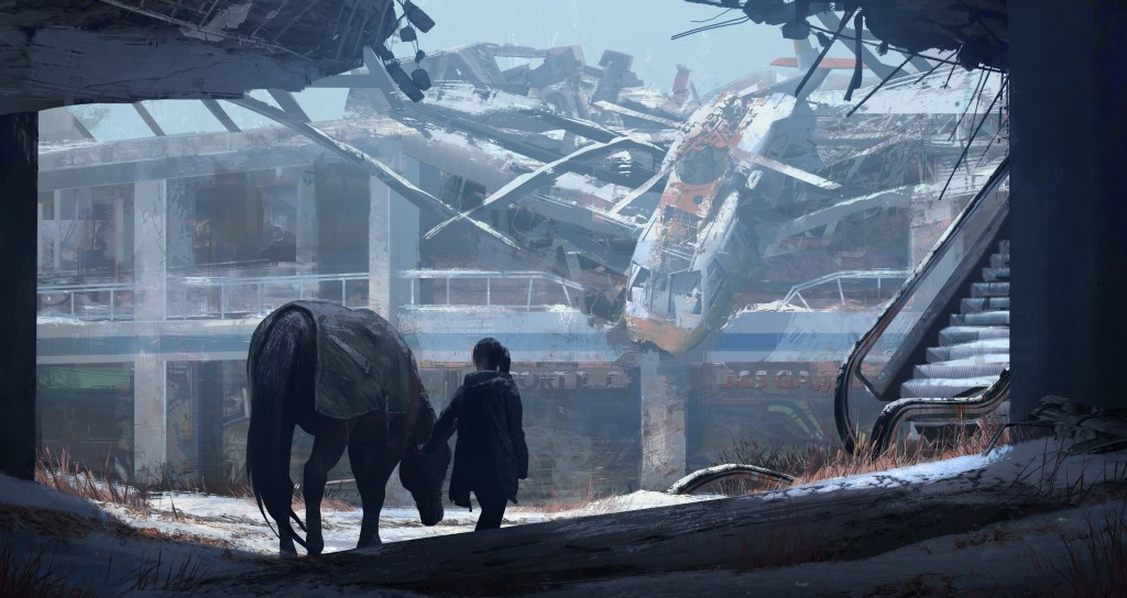 Chopper Crash: art from Naughty Dog's The Last of Us.