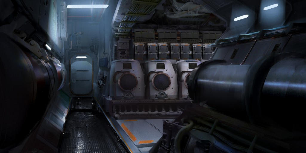 Submarine Base: an image created by Esther Wu.