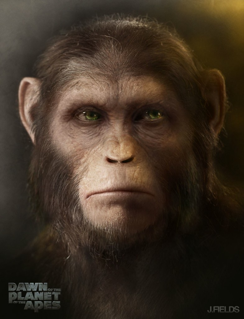 Concept art for Dawn of the Planet of the Apes, created by Justin Fields.