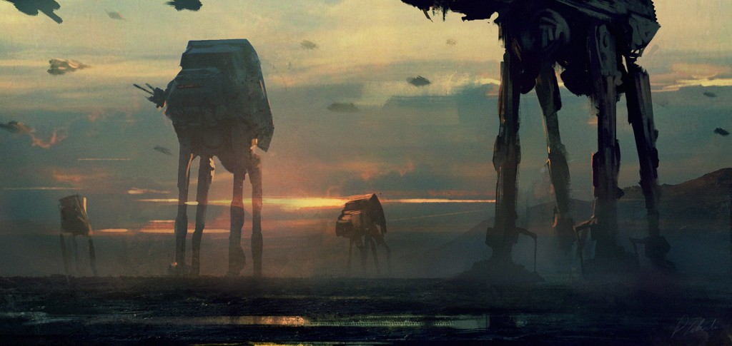 Imperial Walkers: a personal art work.