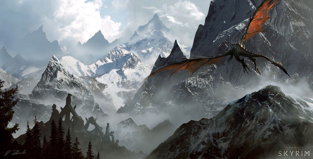 Skyrim: a personal art work. Fan art inspired by the game.