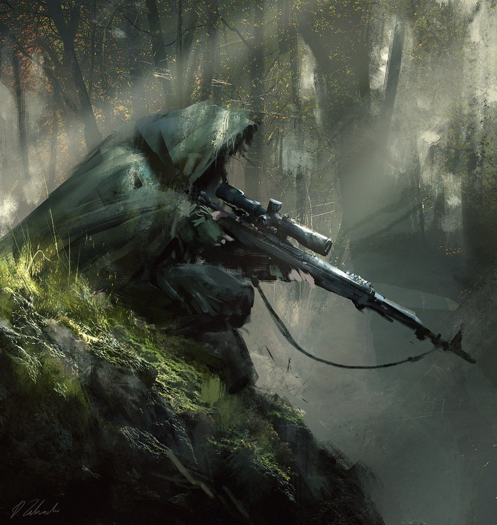 Sniper Ambush: a personal art work.