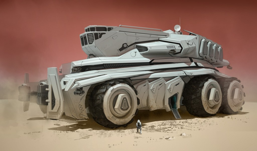 Mars: a personal art work. A tribute to Syd Mead.