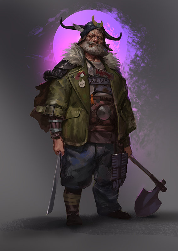 Hobo Warlord: a personal art work.
