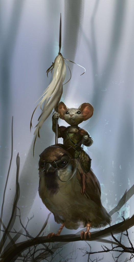 Sparrow Rider: a personal art work.