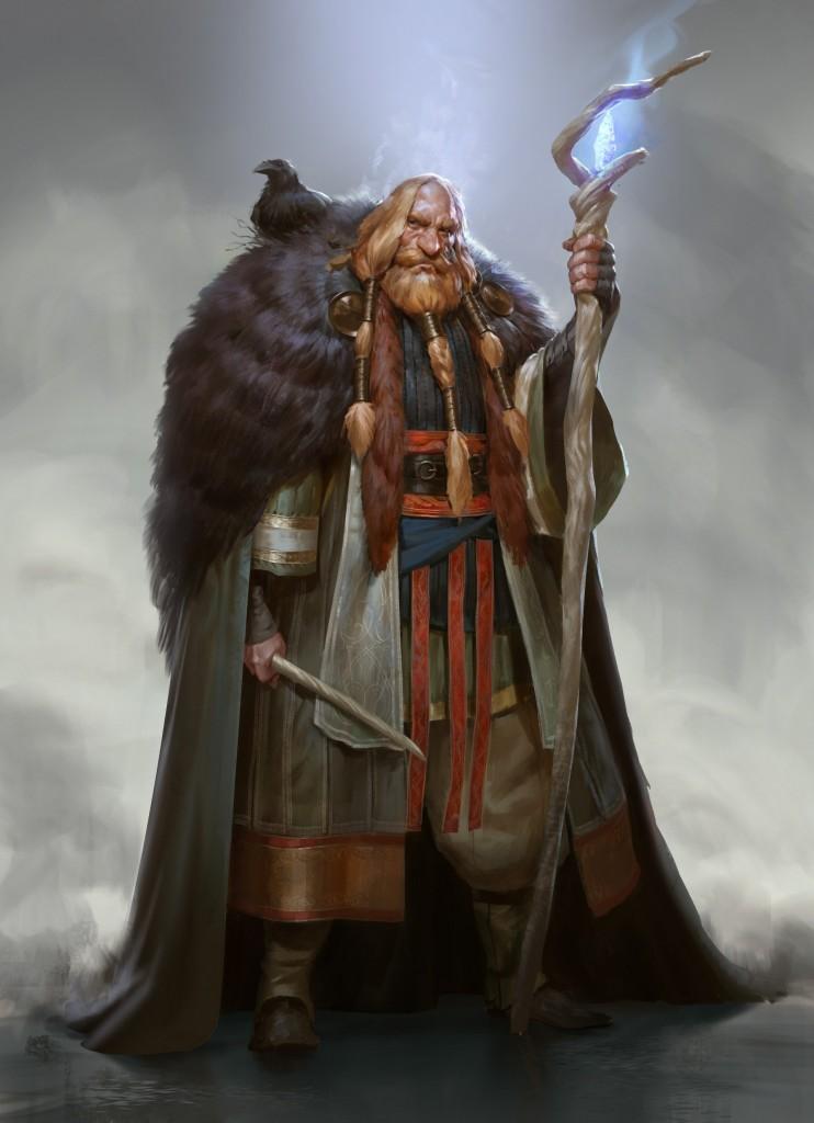 Torbjørn Jotunhorn: a personal art work. A Scandinavian take on Harry Potter's Albus Dumbledore.