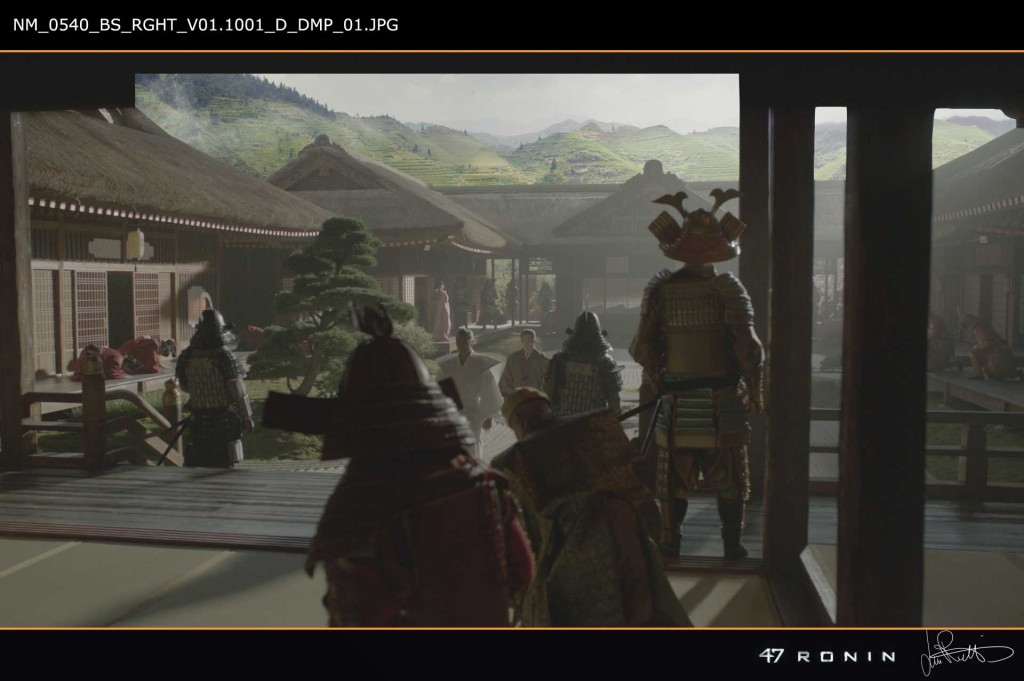 Matte painting for 47 Ronin, created for Baseblack.