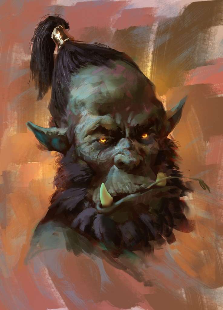Orc Portrait: a personal art work.