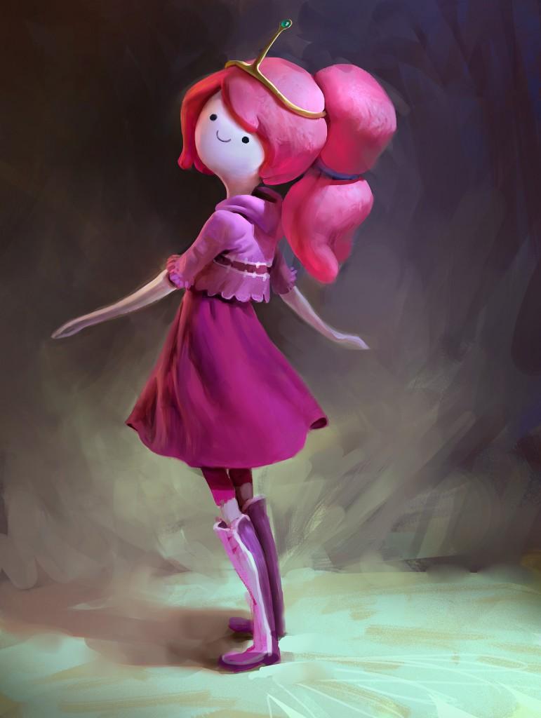 Princess Bubblegum: a personal art work. Fan art for Adventure Time.