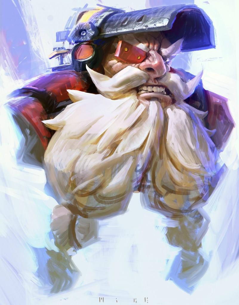 Torbjörn: a personal art work. Fan art of Blizzard Entertainment's Overwatch.